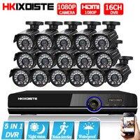 AHD CCTV System 16CH AHD 1080P CCTV DVR Kit HDMI 1080P 3000TVL IR Cameras Security System