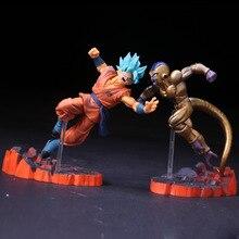 Dragon Ball Z Son Goku VS Frieza ПВХ фигурка DBZ Супер Saiyan Goku Gold Frieza конфронтация модель игрушки 15 см