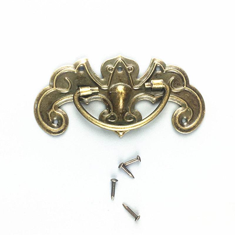 10pcs 64*33mm Antique handle Bat handle Drawer Cabinet Desk Door Pull Box Handle Knobs Furniture Handles Hardware