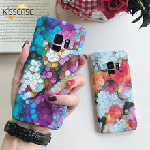 KISSCASE Fish Scales Phone Case For Samsung Galaxy S9 S8 Plus S7 Colorful Light Marble Case For Samsung S7 Edge Note 8 9 Cover(China)