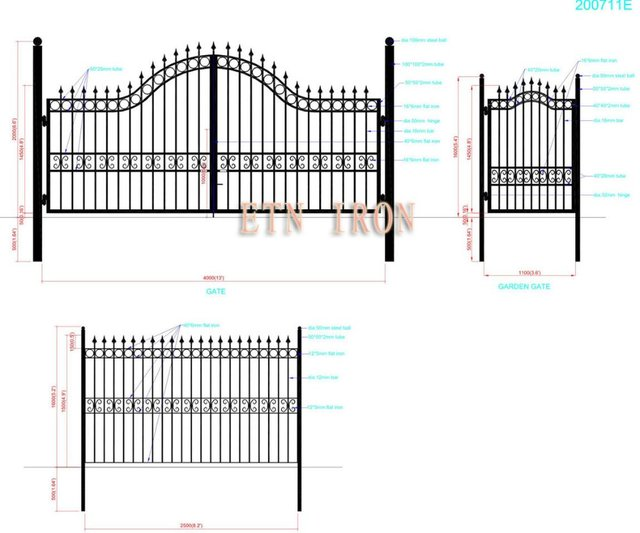 house iron swing gate designs ETN 200711E-in Doors from Home ...