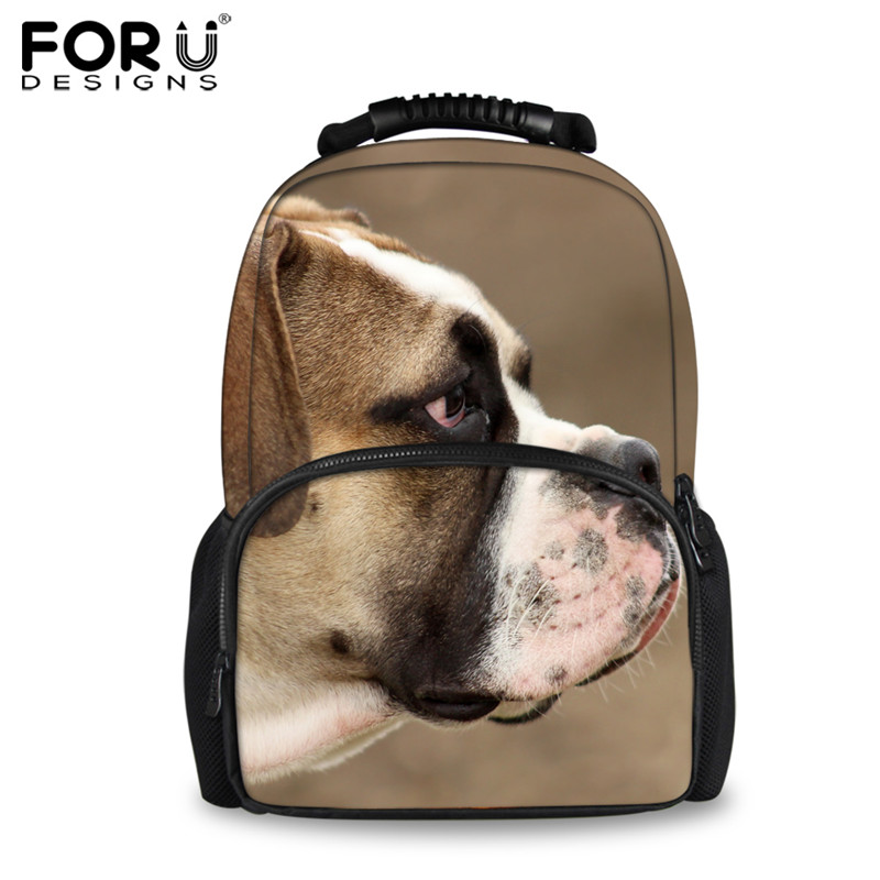 FORUDESIGNS 3D Printing Felt Backpack for Teenager Girls Boys Animal French Bulldog Backpack for High School Student Mochilas forudesigns 3d printing backpacks for teenager boys girls anime pokemon naruto men felt backpack casual school bagpack mochilas