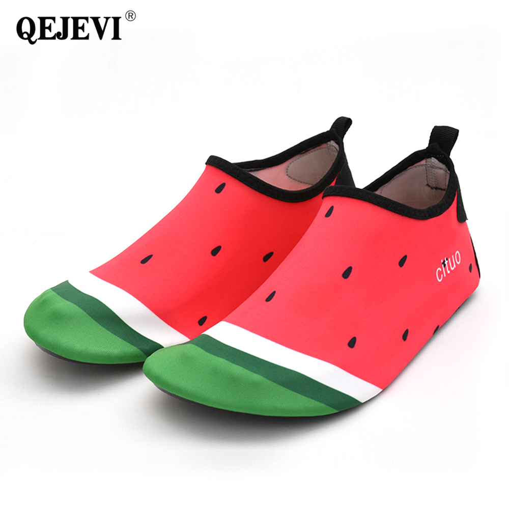 2018 QEJEVI Couple Water Sport Aqua Shoes Quick Dry Breathable Upstream Sneakers Soft Light Beach Swimming Diving Yoga Skin Shoe