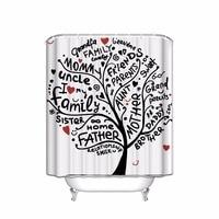Aile ağacı: kardeş anne teyze ter grand ebeveynler, ağaç Dekor, renkli Yaşam Özet duş perde