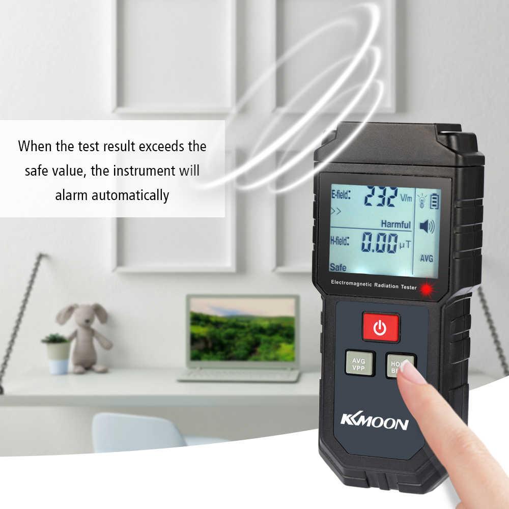 KKmoon Ручной цифровой ЖК-измеритель EMF детектор электромагнитных излучений Электрический полевой Магнитный полевой дозиметрический детектор