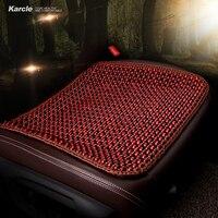 Karcle 1 SZTUK Naturalne Drewno Fotelik Samochodowy Obejmuje Oddychającą Zdrowia Siedzisko fotela Jazdy Protector Pad Krzesło stylizacji Samochodu Auto akcesoria