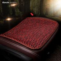 Karcle 1PCS Natural Wood Car Seat Covers Breathable Health Seat Cushion Driving Seat Protector for Ford for BMW Auto Accessories