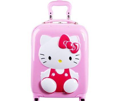 Children Trolley Case ABS18 inch KT cat luggage casters suitcase hello kittyChildren Trolley Case ABS18 inch KT cat luggage casters suitcase hello kitty