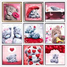 5D DIY Diamond Painting Embroidery Round Rhinestone Painting Cross Stitch Kit Animal Cartoon Decoration