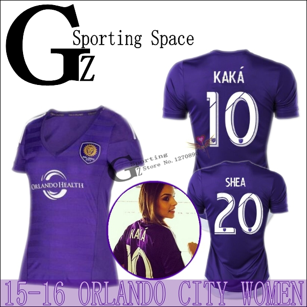 new Orlando City Women purple jersey 2015 Home MLS soccer jersey Orlando football  shirt football jersey 15 16 KAKA COLLIN Women-in Soccer Jerseys from ... 5bb7899095