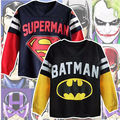Sell well Style Superman Batman Kid Boy Cartoon 100%Cotton High Quality Sweatshirt Hoodies Tops T-shirt