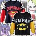 Venden bien Estilo Superman Batman Kid Boy Sudaderas Con Capucha Tops T-shirt de Dibujos Animados 100% Algodón de Alta Calidad