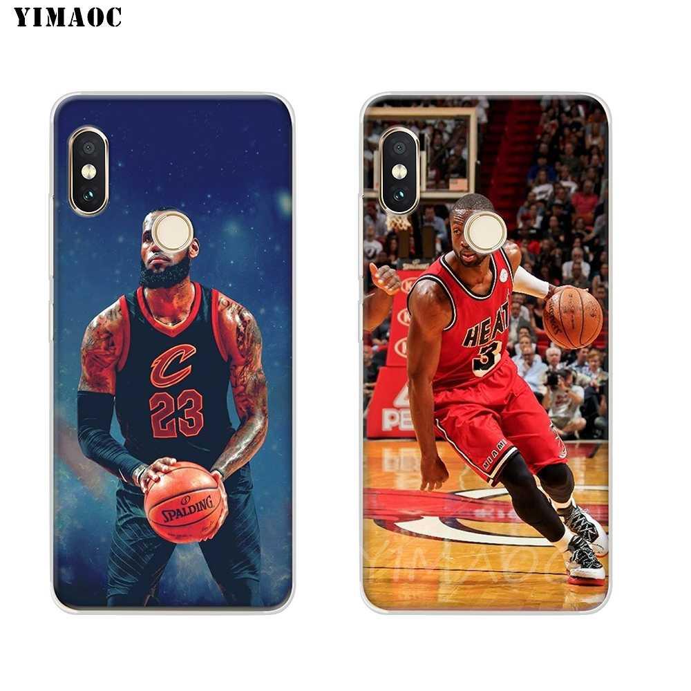 innovative design aa6b3 94bdd YIMAOC LeBron James Dwyane Wade Soft TPU Phone Case for Xiaomi Redmi 6 4X  5A 4A S2 Note 4 5 4X Pro Plus Mi 8 SE 6 A2 A1 MiX 2S