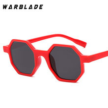 798e4988319 WarBLade Octagon Square Sunglasses Women Brand Designer Polygon Sun Glasses  Vintage Couple Sexy Cute Light Red Pink Lens Shades