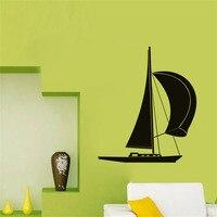 DCTOP Piccola Barca A Vela Wall Stickers Rimovibile Impermeabile Wall Art Decalcomanie PVC Per Soggiorno Decorazione Della Casa