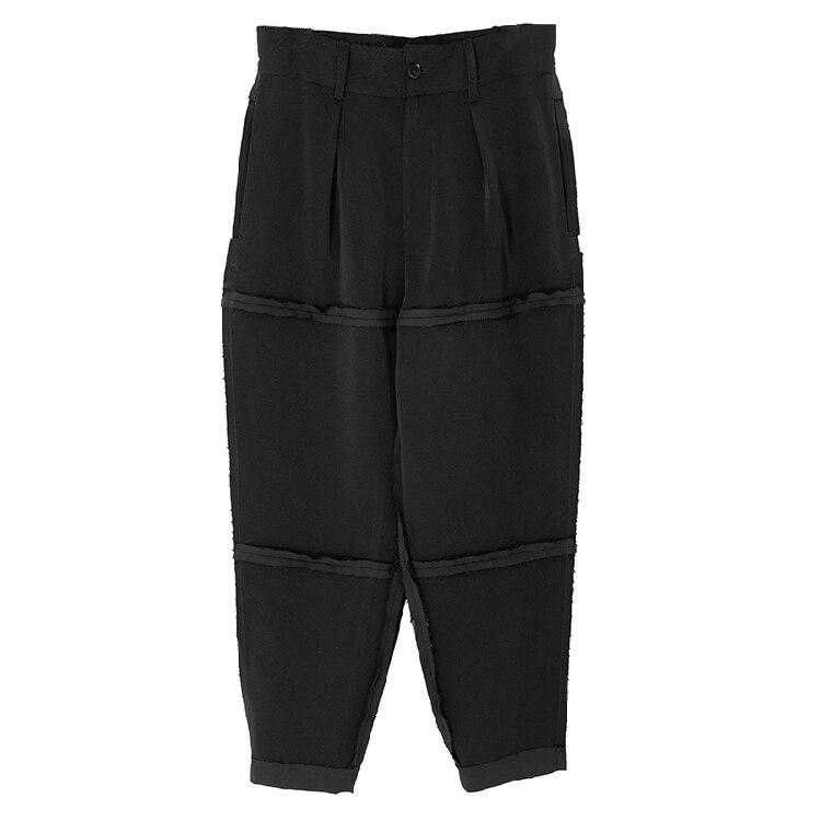 2018 européen et américain populaire chaussures décontractées pour homme épissage et flanging pantalon original grande taille hommes pantalon 27-44