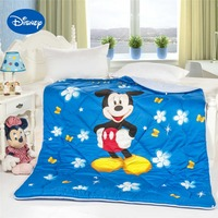 Butterfly Flower Mickey Mouse Comforters Disney Character Printed Cotton Cover Quilts Boys Bedroom Decor Single Twin Queen Blue