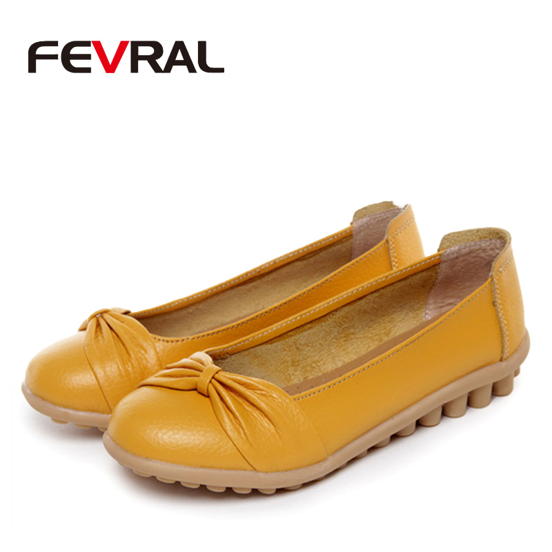 Image 4 - FEVRAL 2020 Spring And Summer Woman Oxford Shoes Ballerina Flats Shoes Woman Genuine Leather Shoes Moccasins Slip On Loafersshoes ballerina flatsshoes moccasinballerina flats -