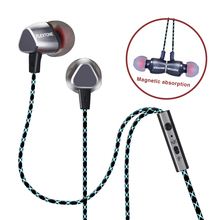 Hot Sale PLEXTONE X36M 3.5mm Plug In-ear Wired Dynamic Universal Metal Magnet Line-control Earphones Stereo Sound For MP3/Phone