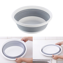 Multi Washing Basin Kitchen Bathroom Plastic Washbasin Foldable Water Washbasin Collapsible Space-saving Plastic Round Washtub