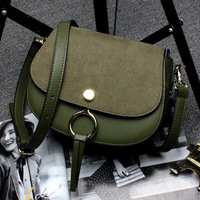 Vintage Messenger Bag Sella Borse di Lusso Delle Donne It Bag Designer Mini Celebrità O Ring Borsa Opaca Femminile Borse di Cuoio Genuino