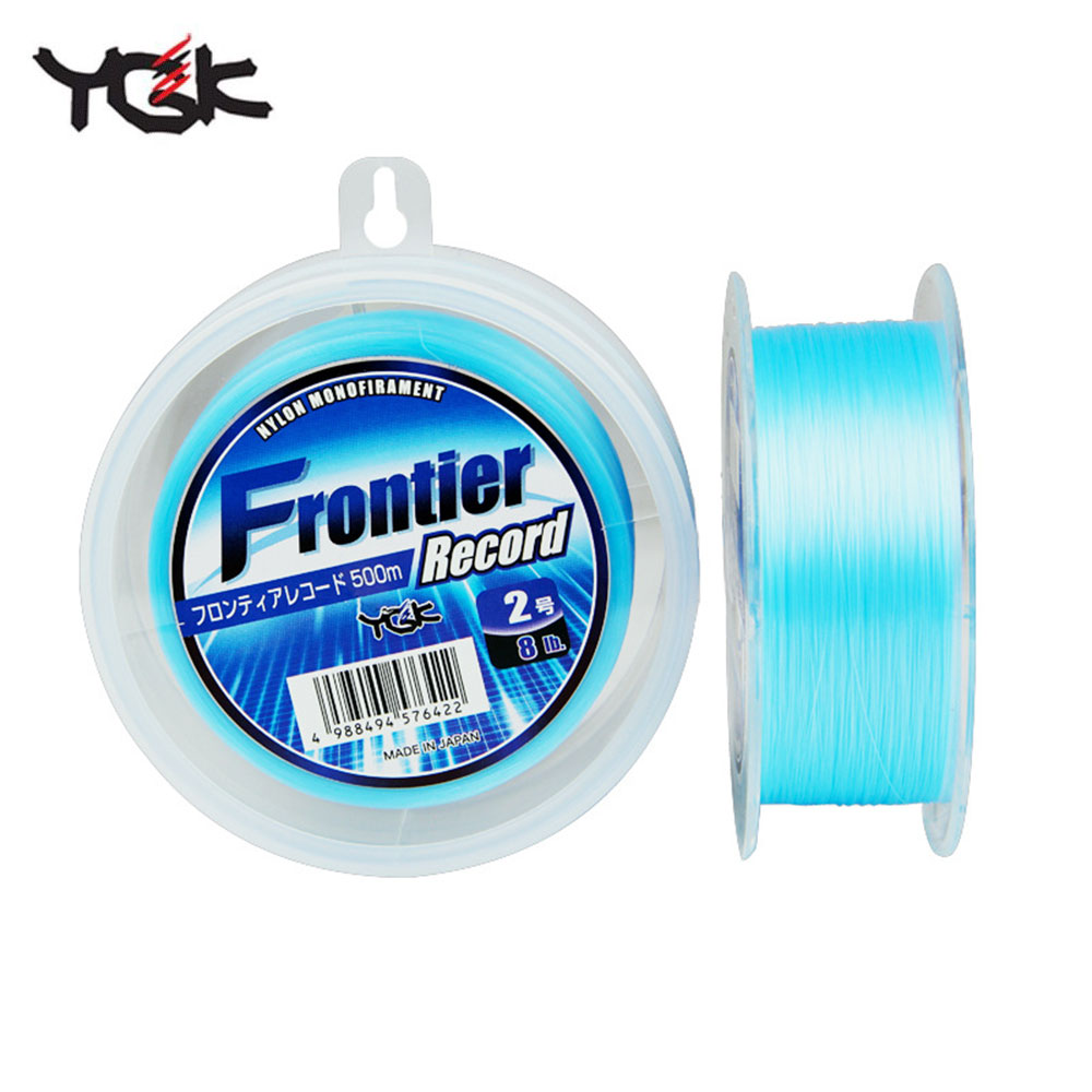 YGK Frontier Nylon Fishing line 100% original 500M for lure fishing high Superfine diameter High strength Smooth Made in Japan lm64c142 industrial lcd original made in japan a in good condition