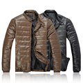 Hot-selling men winter outerwear stand collar cotton leather jackets men down jackets