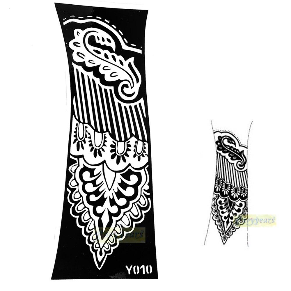 ⑤1 unid grande mehndi Henna Glitter tatuaje temporal Plantilla de ...