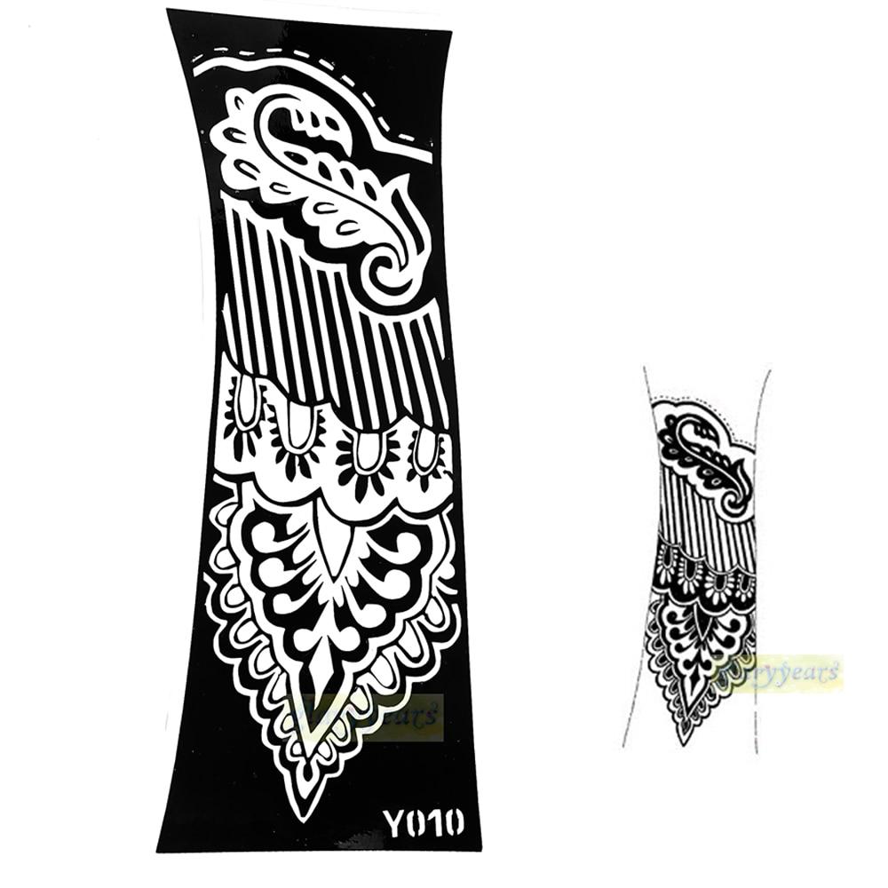 Temporary Tattoo Stencils Henna: 1pc Large Mehndi Henna Glitter Temporary Tattoo Stencil