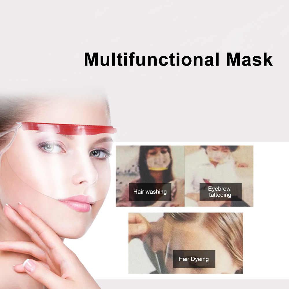 50pcs Disposable Face Hairspray Shield Mask Bang Trimmer Tool Hair Cutting Tools Shield Hair Salon Face Protection Mask