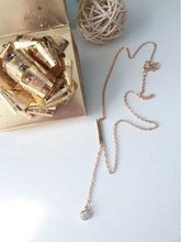 2017 Fashion Lady's Gold Color Crystal Necklace Statement Chain Pendant Necklace Chain Jewelry for Women