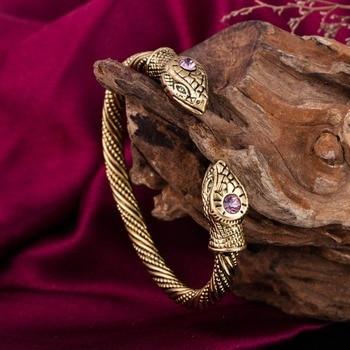 Viking Snake Rhinestone Bracelet Cuff Bangle  Viking Bracelet
