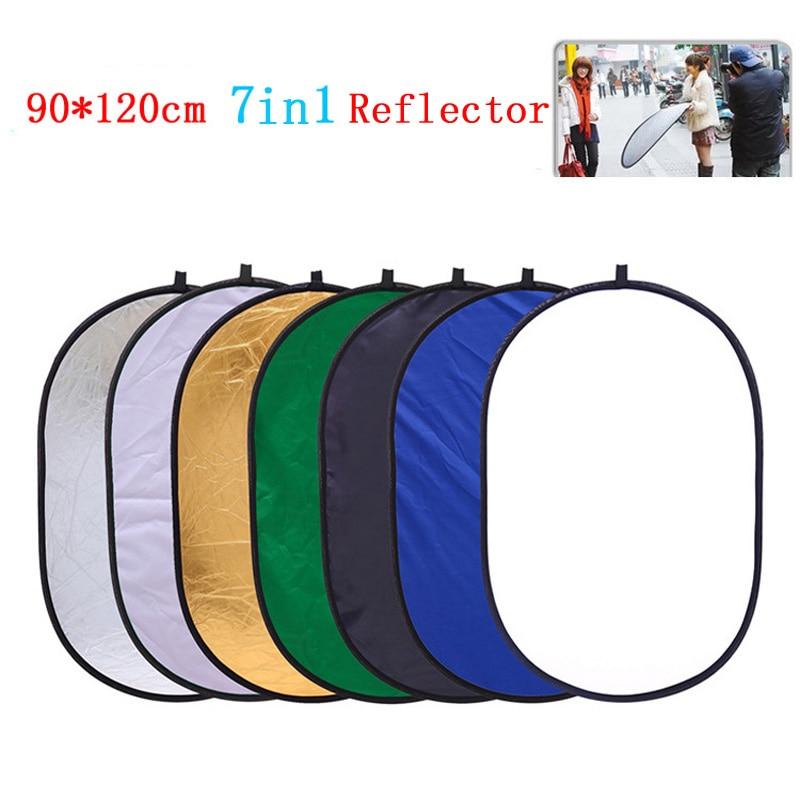 Pliable 7in1 90 cm x 120 cm Ovale Réflecteur Disque Haute Qualité Photo Studio Accessoires Lumière Réflecteur chromakey PSCR13-912