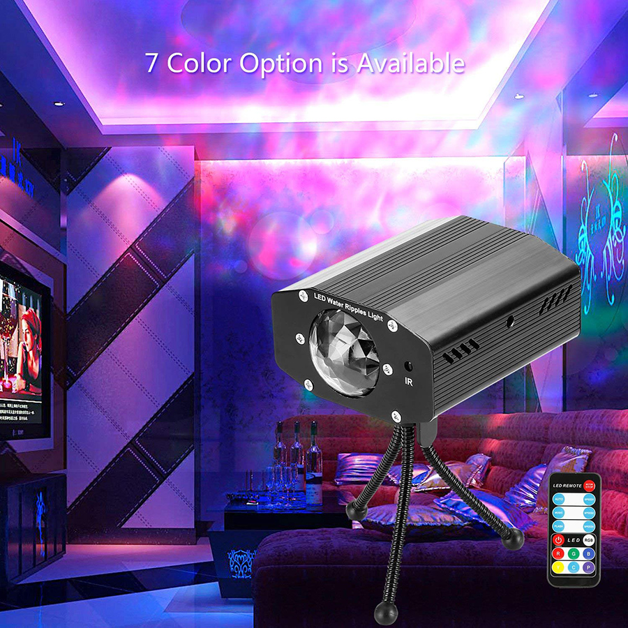 KARRONG 9W RGB LED Water Wave Ripple Effect Stage Light Laser Projector Lamp Christmas Club KTV Disco DJ Show Event Party LightKARRONG 9W RGB LED Water Wave Ripple Effect Stage Light Laser Projector Lamp Christmas Club KTV Disco DJ Show Event Party Light