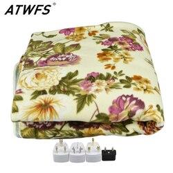 Электрическое двойное одеяло ATWFS 160*150 см, Электрический матрас, толстое одеяло с подогревом для ковров
