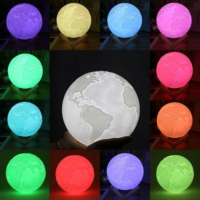 Mystical Earth Moon Lamp | 3d Moonlight Lamps | Earth Lights Lamp