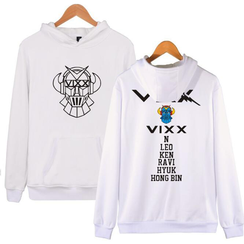 KPOP VIXX Hoodies Women Men Harajuku Sweatshirt K-POP N HONGBIN LEO RAVI HYUK KEN Long Sleeve Fleece Hooded Pullovers Plus Size ...