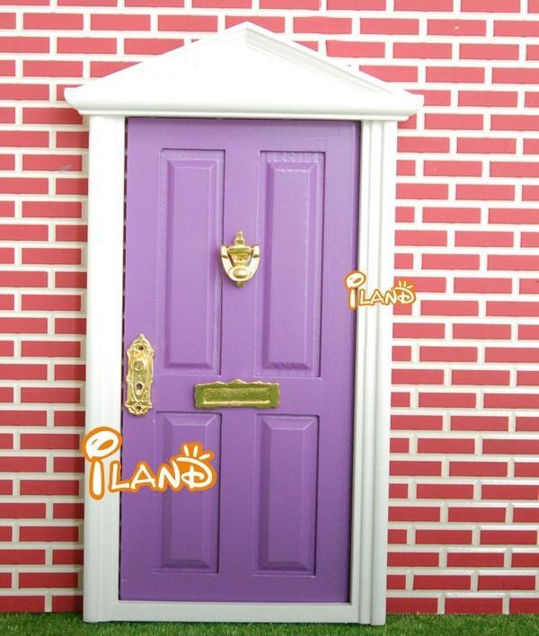 7 miniature purple lovely fairy doors attractive exterior for Fairy front door