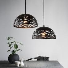 Vintage Pendant Lights Hollow Black Iron Pendant Lamp Kitche