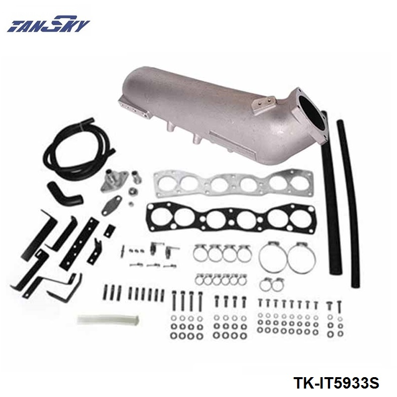 TANSKY -  Engine Swap Turbo Intake Manifold For TOYOTA 2JZ High Performance Polished TK-IT5933S wlr store cast aluminium intake manifold for 93 98 supra 2jzgte for toyota 2jz intake manifold high quality new brand