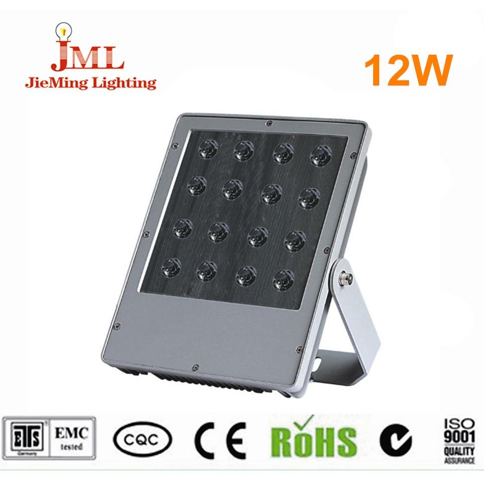 1pcs/lot floodlight led 12W 16W IP65 dmx waterproof light Outdoor Lamps DC 24V 12V Outdoor Spotlight led light refector
