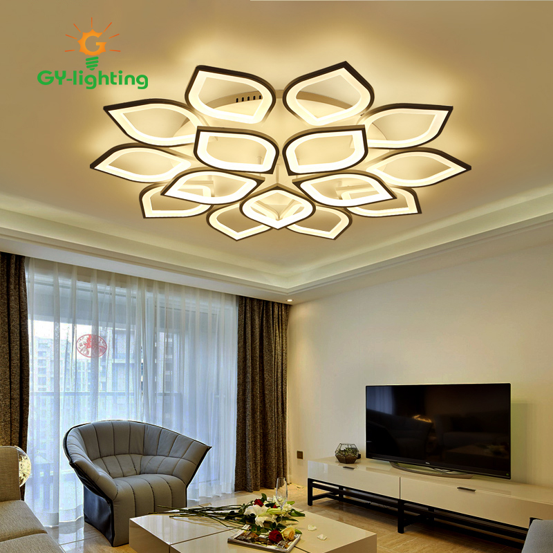 4/6/8/12head Remote controlling ceiling lamp Modern living room ceiling light Acrylic ceiling lights for bedroom room lamp