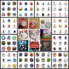 Wholesale 900pcs Plastic Round Cartoon Button Badge Marvel Avengers LOL Surprise Doll Pins Brooch Backpack Clothes Decor