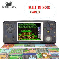 Data Frog Retro Handheld Game Console Built in 3000 Games 3.0 Inch Console Support AV Output For NEOGEO/GBC/FC/CP1/CP2/GB/GBA