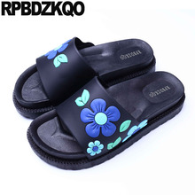 0eb07f21773a summer chinese bathroom korean designer slides women 2018 bedroom plastic  home indoor shoes slippers sandals guest
