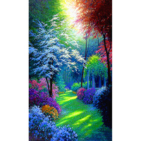 5D DIY Diamond Painting Landscape Cross Stitch Patterns Full Drill Resin Diamond Painting Kits For Embroidery