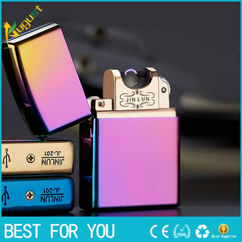 1pc 2017 new arrive Usb Electronic Cigarette Smoking Windproof Lighters torch plasma lighter isqueiro for men
