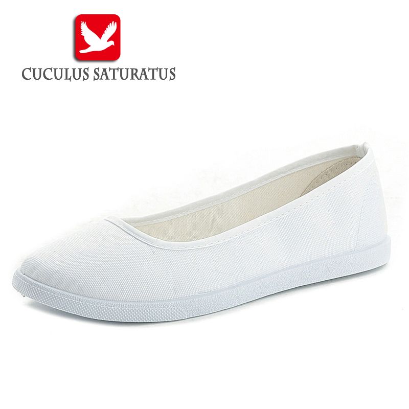 Cuculus Fashion Women White Canvas Shoes Concise Low Top Casual Flat Student Shoes Lace Up Solid Canvas Women nurse Shoes 435 e lov women casual walking shoes graffiti aries horoscope canvas shoe low top flat oxford shoes for couples lovers