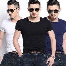 Plus Size 5XL 3 Pcs/6pcs Pack Slim Fit Men T-shirts Short Sleeve O-Neck T Shirts Solid Color Tshirts Homme top
