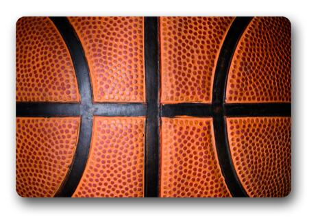 Great CHARMHOME Custom Basketball Doormat Bedroom Cushion Red Basketball Mat  Brown Background Bathroom Rugs(China (